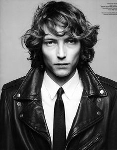 This longer look for curly hair is still right on trend for men's hairstyles!