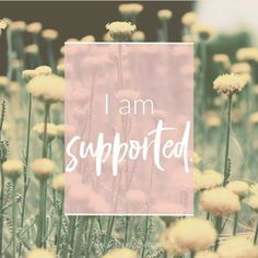 This week's is 'I am supported.' Do you feel supported on a daily basis in your life? What is it that makes you feel supported when you do? Is there a way you can bring in more of what makes you feel supported? Positive Thoughts, Positive Vibes, Positive Quotes, Positive People, Happy Thoughts, Think And Grow Rich, Positive Affirmations, Affirmations Success, Morning Affirmations