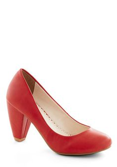 Solid Choice Heel in Red, #ModCloth