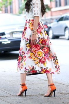 Floral and lace: a clash you could get away with