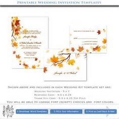 Yahoo! Image Search Results for fall wedding homemade invitations