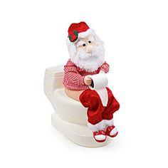 Musical Animated Santa On Toilet at Big Lots.#biglotschristmas