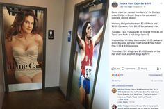 When Caitlyn Jenner publicly transitioned in she helped push transgender rights into the national consciousness. Now a restaurant is using her experience as a gag — and many people aren't laughing. Photo Stock Images, Stock Photos, Texas Restaurant, Weekly Specials, Pre And Post, Bar Grill, Online Marketing, Transgender, Consciousness