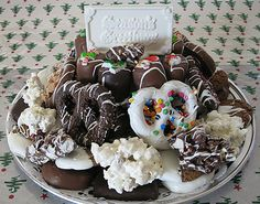 Doreen's Decadent Chocolates: Our holiday gourmet gift tray is available in 3 sizes and perfect for holiday parties!