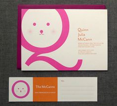 Quinn's Modern Birth Announcements | Design and Photo Credits: Fine Day Press