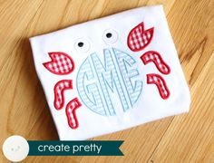 Monogram Summer Shirt crab jellyfish ice cream by CreatePretty