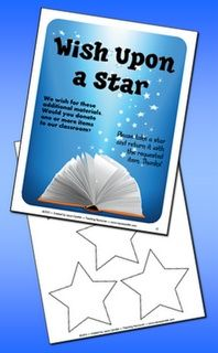Classroom Freebies: Free - Wish Upon a Star Classroom Materials Request