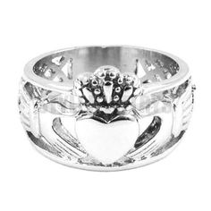 Style Crown Stainless Steel Jewelry Silver Biker Ring For Men