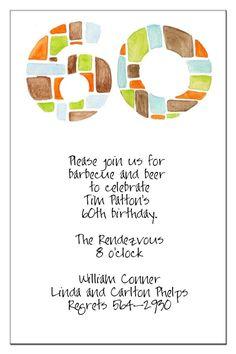 modele de lettre invitation anniversaire 60 ans