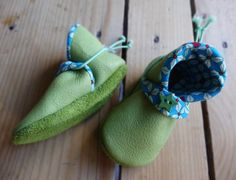 Lime green pixies shoes - Eco leather slippers by Madkouch - www.madkouch.com