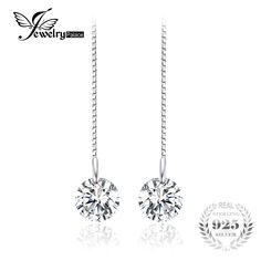 JewelryPalace Round Fashion Linked Earrings Genuine 925 Sterling Silver 2016 new For Women Fine Jewelry Jewelry Tags, Fine Jewelry, Silver Certificate, 925 Silver, Sterling Silver, Argent Sterling, Women's Earrings, Silver Earrings, Jewelry Watches