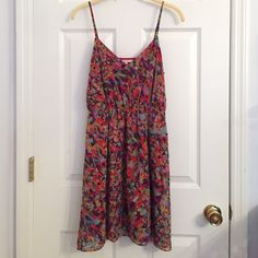 ‼️ SALE‼️ Multicolored dress Beautiful multicolored dress with adjustable straps. It's a size 2 but it can definitely fit a size 4 because of the adjustable straps. Approximately 35 inches long. Only worn 2 times, in perfect condition!! Madewell Dresses