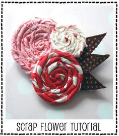 cute flowers from fabric scraps