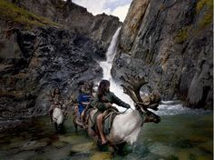 The Dukha are a Tuvan-Turkic tribe that lives on the border of Mongolia and Russia, and they are best known as reindeer herders. The children of the tribe are raised surrounded by reindeer, and they build a close connection. Mongolia, Arte Yin Yang, Cool Photos, Amazing Photos, Magical Pictures, Beautiful Pictures, Hunting, Lion Sculpture, Wildlife