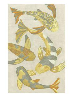 Golden Koi II  Giclee Print