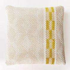 Diamond Color Stripe Pillow Cover - Citrus Yellow | west elm