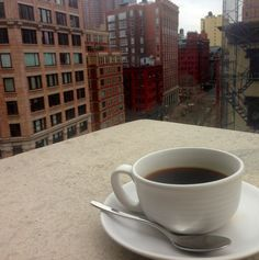 SIP | Improve your morning coffee routine with a Penthouse view. It's officially terrace season!