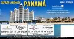 Disfruta de Panamá con Copa.. desde $739!! contactanos a gerencia@alereperutravel.com