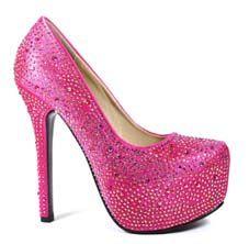 Pink Sparkly High Heels | Tsaa Heel