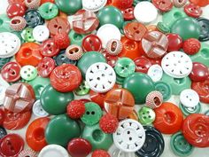 Vintage Sewing Buttons Mix Lot Collection by nickelnotions on Etsy