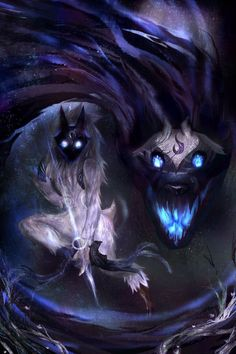 league of legends lamb and wolf Lol League Of Legends, League Of Legends Kindred, League Of Legends Poster, Fantasy Creatures, Mythical Creatures, Dark Fantasy, Fantasy Art, Lambs And Wolves, Character Inspiration