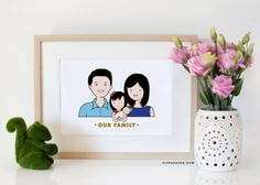Really cute, custom custom family portraits that you can use as holiday cards. And affordable!