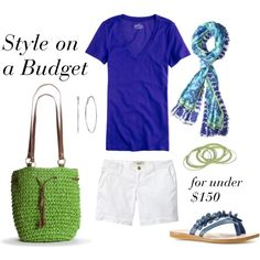 """""""Royal and Lime"""" by bluehydrangea on Polyvore: bag & scarf"""