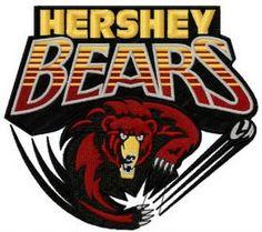 Hershey Bears logo 2 machine embroidery design. Machine embroidery design. www.embroideres.com