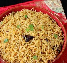 Biryani rice recipe – South Indian muslim style kuska biryani recipe with step by step photos. A simple gravy goes best with this or can be. Red Rice Salad Recipe, Red Beans And Rice Recipe Vegan, Red Rice Recipe Southern, Southern Recipes, Vegetarian Rice Recipes, Easy Rice Recipes, Biryani Rice Recipe, Puttu Recipe, Jasmine Rice Recipes