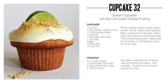 Graham Cupcakes with Key Lime Cream Cheese Frosting