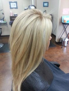 Blonde with Carmel lowlights