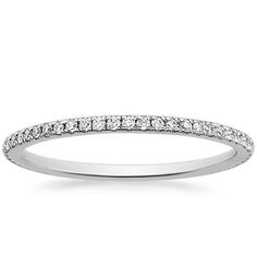 """18K recycled white gold """"Eternity Whisper"""" ethically sourced diamond ring from Brilliant Earth ...I hope I get something like this for our 20th anniversary."""