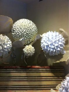 paper orbs, large scale paper decoration