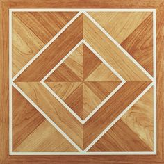 Add an inexpensive new look to your home with these self-adhesive vinyl floor tiles. These tiles feature a classic inlaid parquet design and are easy to install.