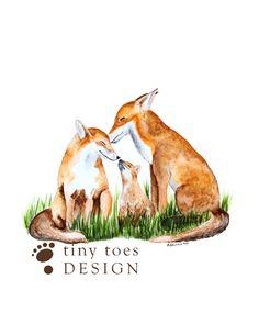 Fox Art Woodland Nursery Art Baby Room Decor by TinyToesDesign, $24.00