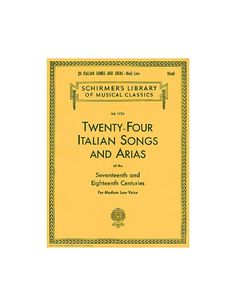 24 Italian Songs Arias Medium Low