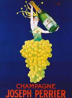 alter Champagne Joseph Perrier poster