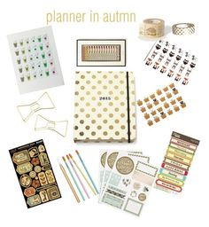 """""""planner in autmn"""" by vikisi ❤ liked on Polyvore featuring interior, interiors, interior design, home, home decor, interior decorating, Kate Spade, Rifle Paper Co, Barry M and H&M"""