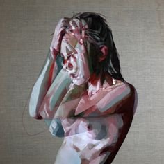Simon Birch is a British-born artist who makes paintings of naked women, both very colorful and very graphic giving a sense, almost abstract representation. Simon Birch, A Level Art, Art Abstrait, Art Studies, Life Drawing, Art Sketchbook, Portrait Art, Figure Painting, Contemporary Paintings
