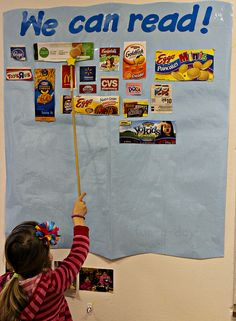 Environmental Print in the Classroom (www.fun-a-day.com's guest post at The Reading Corner) -- A simple, but effective, way to integrate early literacy skills in preschool, kindergarten, or homeschool classrooms