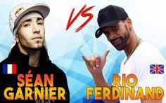 Man United legend Rio Ferdinand takes on freestyler Sean Garnier in nutmeg challenge (Video)
