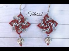 How to make seed bead earings - twist stitch tutorial - YouTube