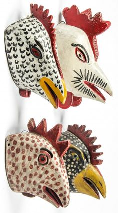 Mexican Chicken/Carnival Masks, Veracruz