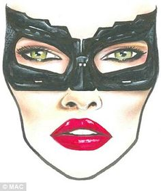 Halloween how-to: Using step-by-step make-up face charts, MAC gives guidance on recreating some of Hollywood's most iconic faces, like Michelle Pfeiffer's Cat Woman