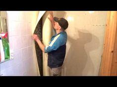 Panel łazienkowy PCV - renowacja na płytkach ceramicznych - YouTube Dom, Google, Youtube, Bathroom, Washroom, Full Bath, Bath, Youtubers, Bathrooms