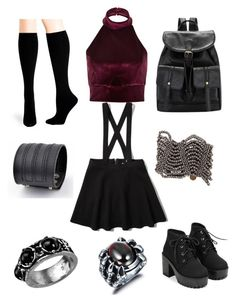 """""""Untitled #39"""" by missnightshine on Polyvore featuring Abercrombie & Fitch, River Island, Hue, Tenri, Trend Cool and Cocobelle"""