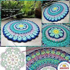 Crochet Doily Patterns, Crochet Doilies, Crochet Stitches, Crochet Mandela, Crochet Cup Cozy, Crochet Carpet, Crochet Projects, Blanket, Knitting