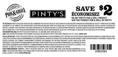 $2 off Pinty's pub & grill - exp 31/12/14 #printable #coupon