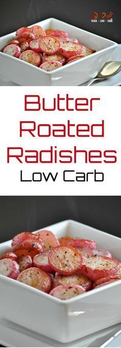 Raw radishes have a very mild, slightly bitter flavor. Roasting them brings out a new complexity and subtle sweetness. They are a great substitution for potatoes. Check out some of my other favorite low carb vegetable side dish recipes: Garlic Parmesan Roasted Cauliflower Skillet Roasted Bacon Brussels Sprouts with Garlic Parmesan Cream Sauce Balsamic Roasted...