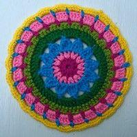 Crochet Mandala Wheel made by Philippa, Wales, UK, for yarndale.co.uk Wales Uk, Crochet Mandala, Wheels, Create, Mandalas